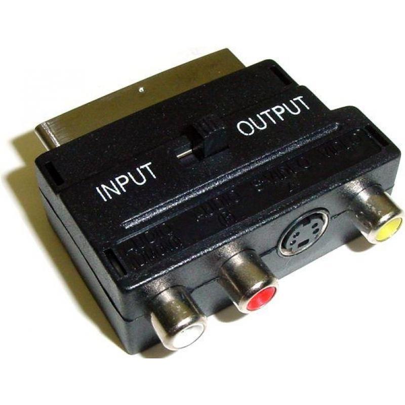 OEM Adaptador Euroconector a RCA 4606