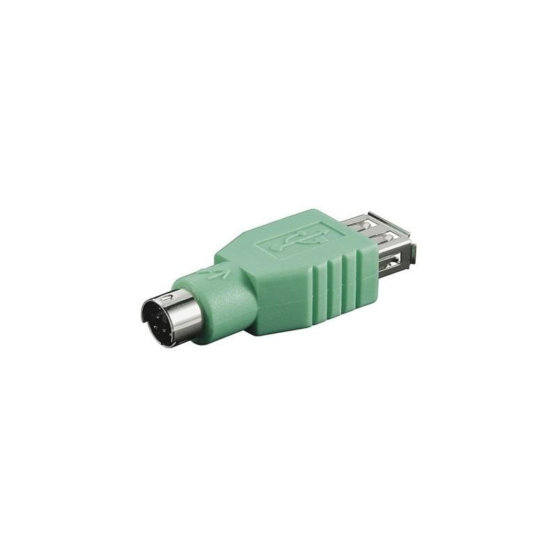 NanoCable Adaptador USB a hembra a Mini Din 6/M (PS/2)