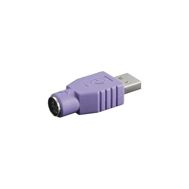 Goobay Adaptador USB a macho a Minidin 6H PS/2