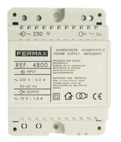Fermax Alimentador DIN4 230Vac/12Vac 1.5A 4800