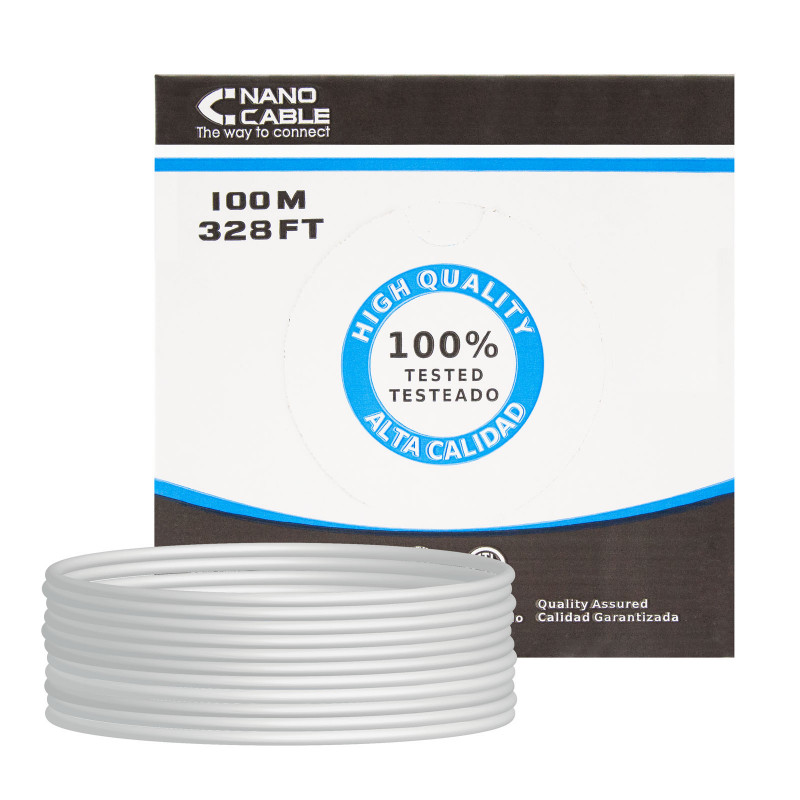 NanoCable Cable de datos UTP CAT 5E Gris 100m