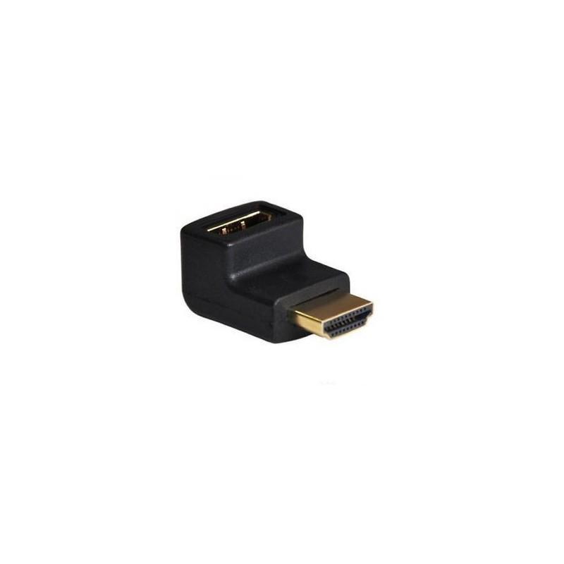 NanoCable Adaptador HDMI Macho-Hembra Acodado
