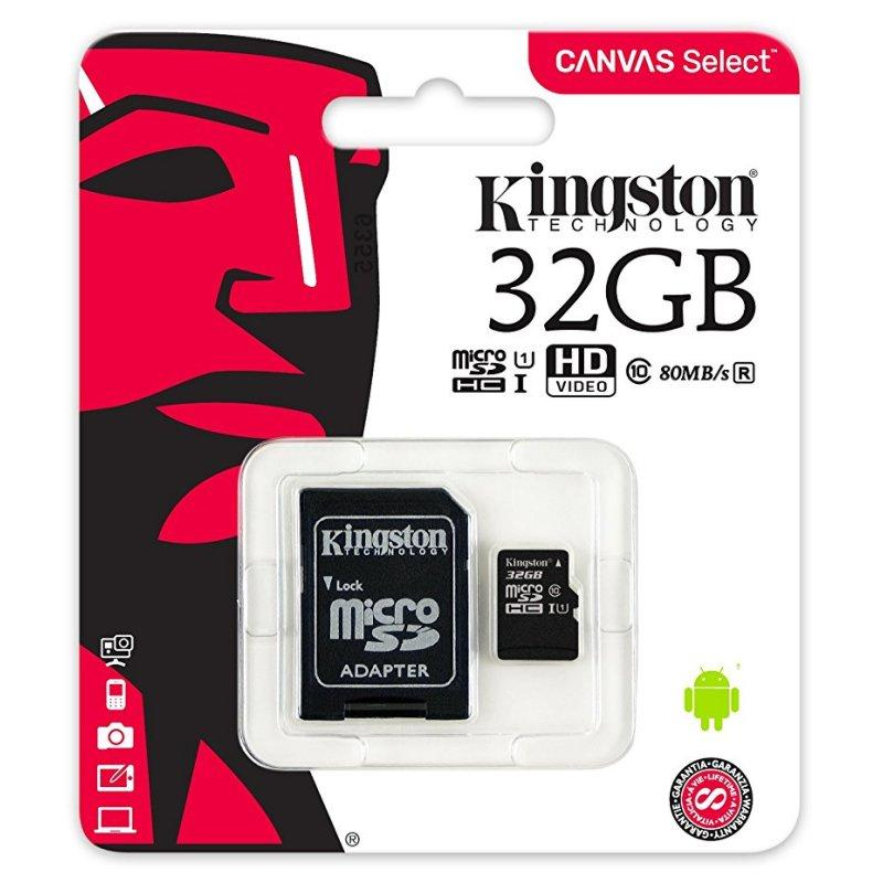 Kingston micro SD XC clase 10 . 16GB / 32GB