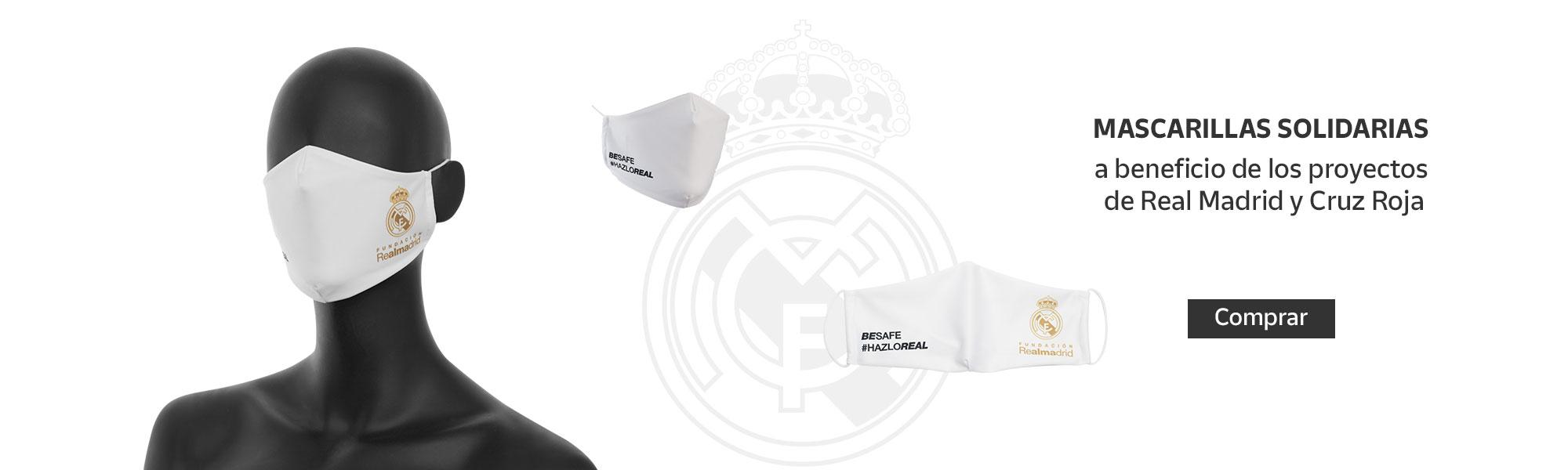 Mascarilla Fundación Real Madrid en la tienda Online de Correos