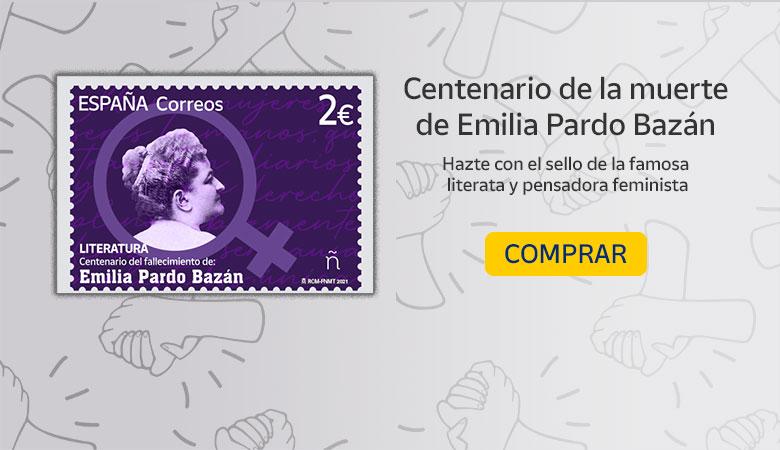 Sello conmemorativo Emilia Pardo Bazán - Tienda Online Correos